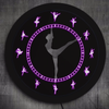 Image of Ballerina LED Single Wall Clock displaying 7 Colors