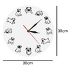 Image of Funny Pug Modern Wall Clock
