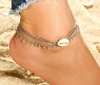 Image of Delicate Seashell Anklet