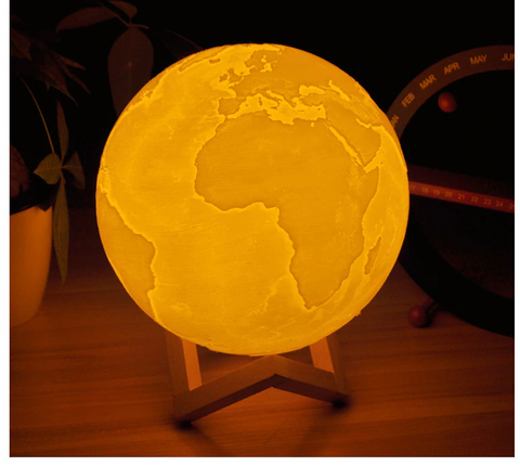 3D colorful Earth Lamp