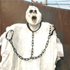 Image of White Chained Ghost with Sound Sensor and Light up Eyes