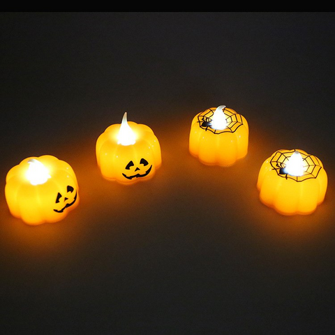LED pumpkin Flameless Candles -12pcs/pack