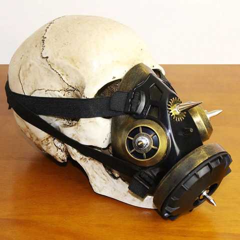 Halloween Gothic Full Face Respirator Gas Mask