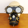 Image of Halloween Gothic Full Face Respirator Gas Mask