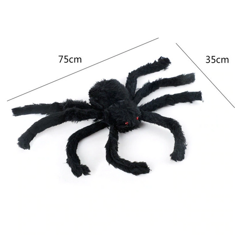 Halloween Horrible Big Black Furry Spider