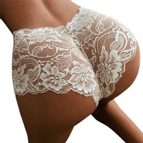 Lace embroidered Thongs