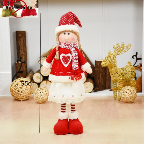 Huge Christmas retractile Dolls