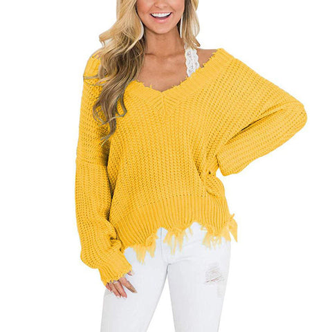 cervitaur ripped sweater pullover women