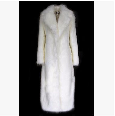 cervitaur long faux fur coat