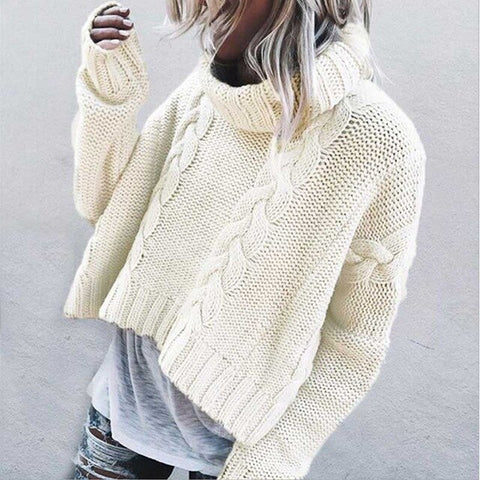 Loose Turtleneck Sweater Women Jumper