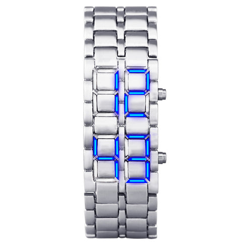 Sports binary LED waterproof watch
