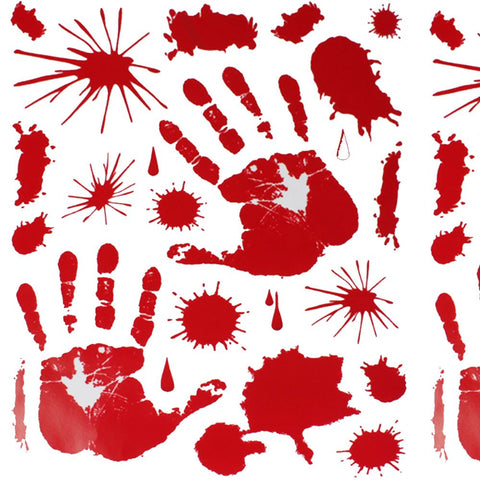 Bloody HAND PRINT Stickers