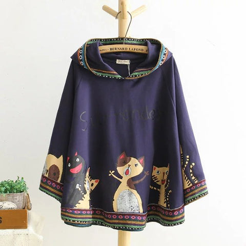 Ethnic Path-work Fleece Sweatshirts