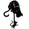 Image of Curious Cat and Mouse Swinging Pendulum Wall Clock