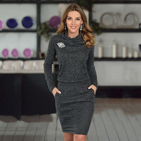 Ombriano Fashion Knitted Dress