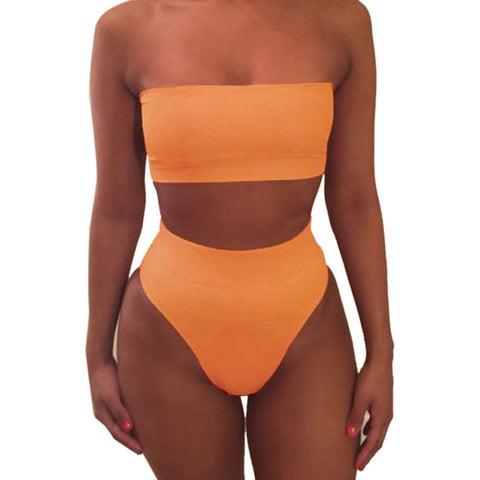 Captivating Off Shoulder Bikini Set
