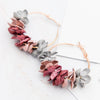 Image of Fabric Flower Drop Earrings