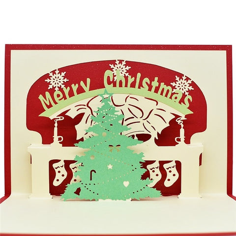 Merry Christmas Pop UP Cards with envelope stickers