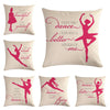 Image of Ballet Girl customized Decorative Throw Pillow Case