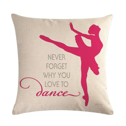 Ballet Girl customized Decorative Throw Pillow Case