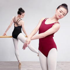 Leotards Straps Gymnastics Ballerina Bodysuit