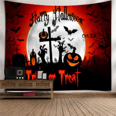 Latest Halloween Tapestry Wall Art