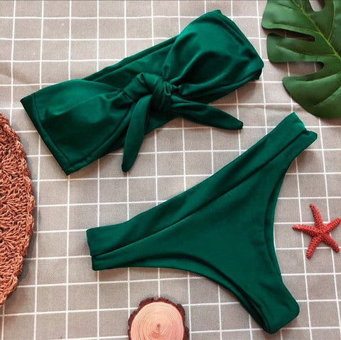 Emerald Sexy Bandage Swimsuit