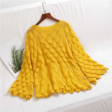 Fish-Gills Loose knitted Sweatshirt