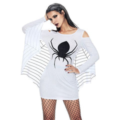 Spider Uniform Off Shoulder dresses