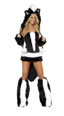 Animal Panda Faux Fur Sexy Cosplay