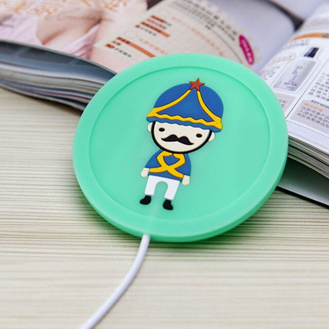 Soldier Silicone USB Coaster Cup Heating