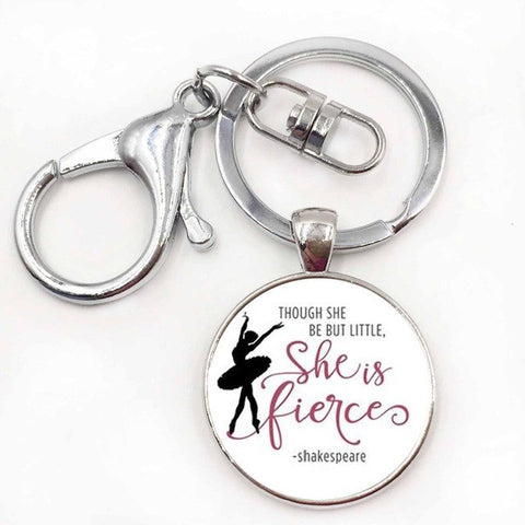 Shakespeare quote ballerina key-chain