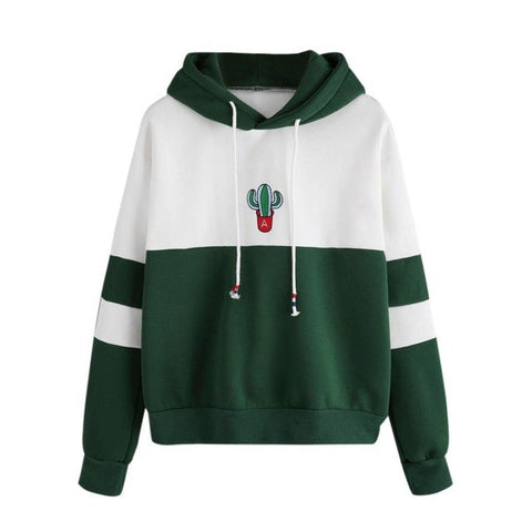 Cactus Print Hooded Pullover