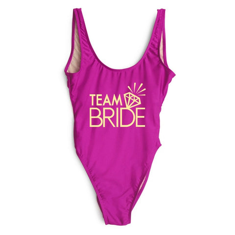 Bachelor Party TEAM BRIDE Swimwear