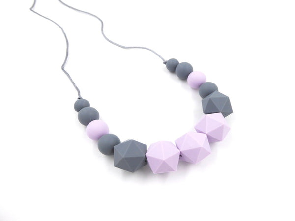 Nursing Necklace Lilac Grey - Porridgekid