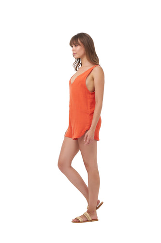 BLAZE ROMPER_Rompers_CORAL_Velvet_The_Label