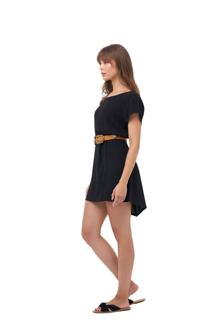 COASTAL DRIVE MINI DRESS_Dresses_BLACK_Velvet_The_Label