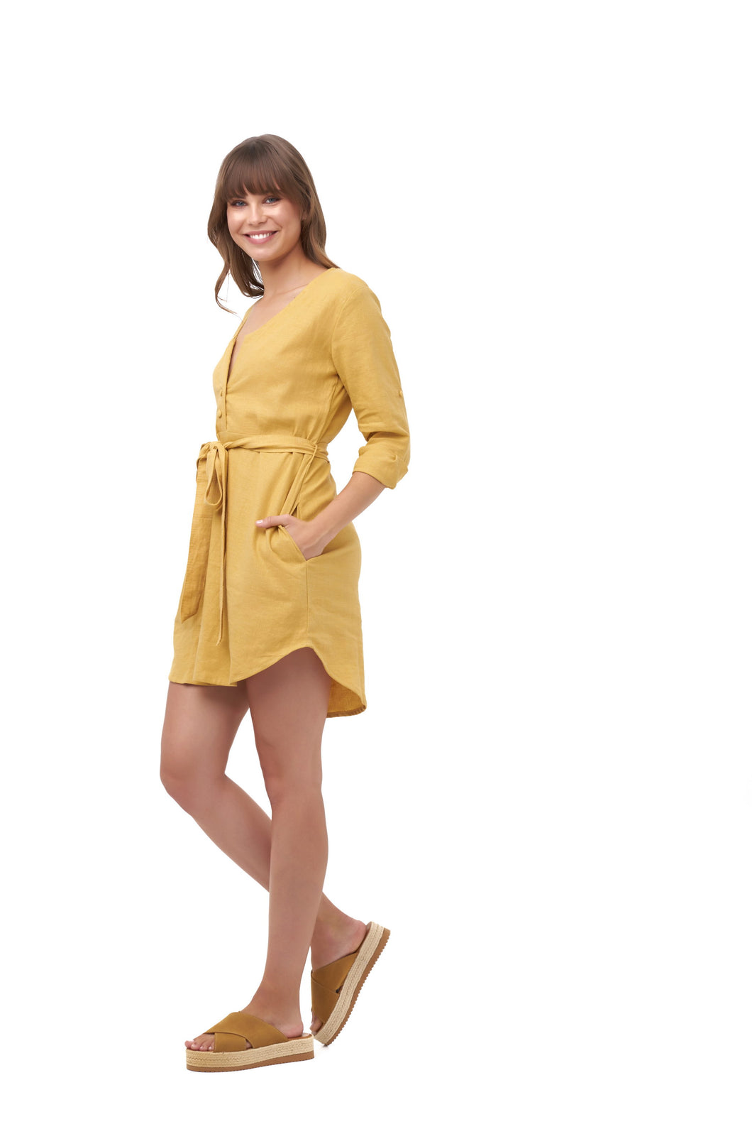 HARBOURSIDE DRESS_Dresses_GOLDEN_Velvet_The_Label