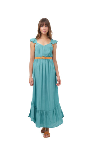 POSITANO MAXI DRESS_Dresses_TURQUOISE_Velvet_The_Label