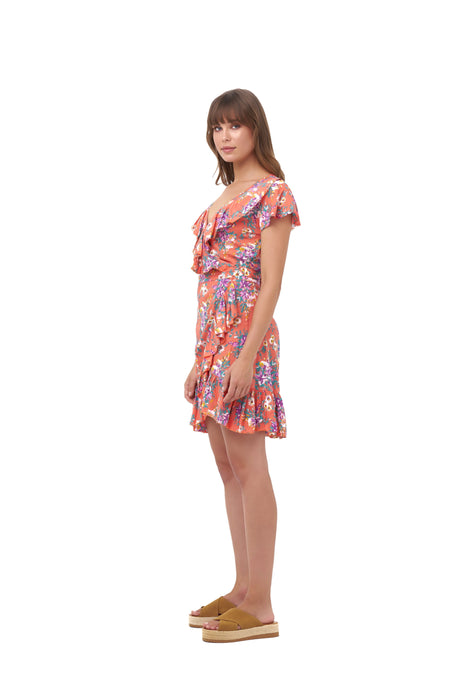 SANTORINI WRAP DRESS_Dresses_SUNSET FLORAL_Velvet_The_Label