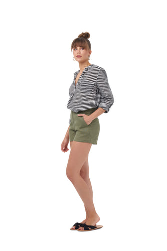 SLO TOWN SHORTS_Shorts_KHAKI_Velvet_The_Label