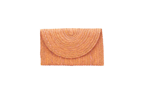 WOVEN CLUTCH_Purses_ORANGE_Velvet_The_Label