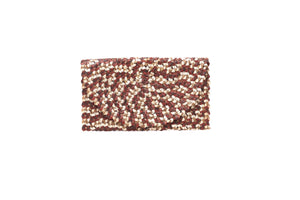 WOVEN CLUTCH_Purses_CHOCOLATE MULTI_Velvet_The_Label