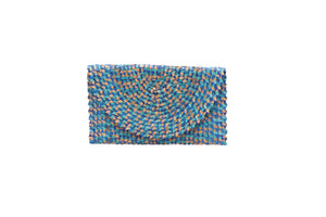 WOVEN CLUTCH_Purses_BLUE MULTI_Velvet_The_Label