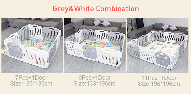 Backorder #15: Grey-White Play Yard (9+1 door) Ver 2.
