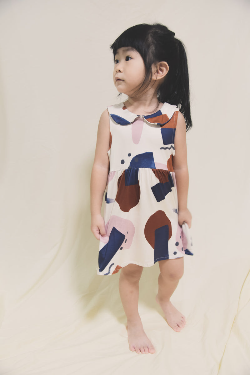 In the Wilderness Abstract Collar Dress