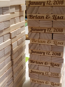 Wooden Guest Book Alternative- Engraved alternating Names and Date both sides - Cutting Edge Lazer