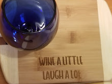 Wine glass holder - bamboo cutting board - cheese board - Cutting Edge Lazer