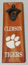 Clemson Tigers Magnetic Bottle Opener - Wooden - Laser Engraved - Groom gift - Grad gift - Man Cave - Christmas gift - Cutting Edge Lazer