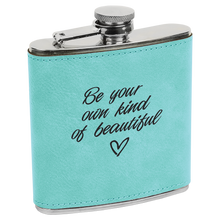 Personalized Flask, Groomsman Gift, Best Man, Monogrammed - Bachelor Party, Leather - Engraved - Gifts for Groomsmen -Father's Day - Cutting Edge Lazer